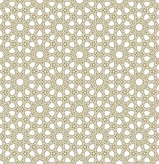伝統的なイスラム美術に基づくシームレスな幾何学的な装飾。