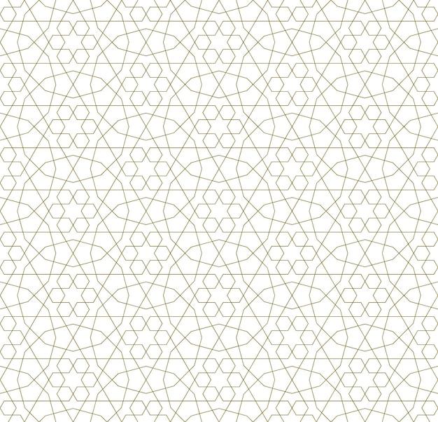 Бесшовный геометрический орнамент на основе традиционного исламского искусства.
