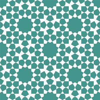 伝統的なイスラム美術に基づいたシームレスな幾何学的な装飾。