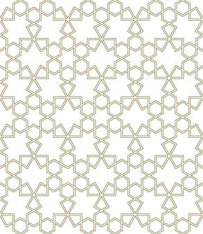 伝統的なイスラム美術に基づくシームレスな幾何学的な装飾