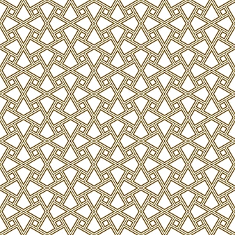 Seamless geometric ornament based on traditional arabic art. muslim mosaic.brown color lines.