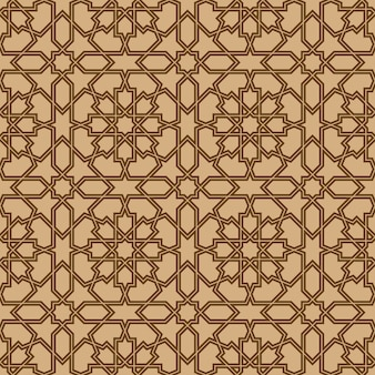 Seamless geometric ornament based on traditional arabic art.