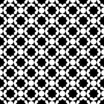 Seamless geometric ornament based on traditional islamic art. black and white. great design for fabric,textile,cover,wrapping paper,background.
