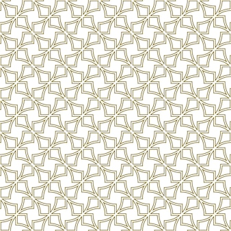 Seamless geometric ornament based on traditional islamic art.brown color contoured lines.great design for fabric,textile,cover,wrapping paper,background.