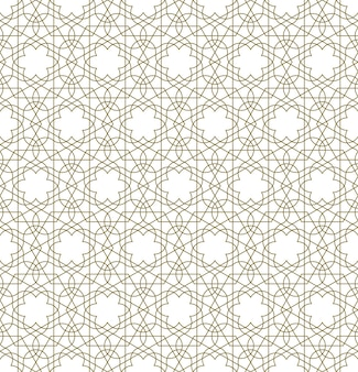 Seamless geometric ornament based on traditional islamic art.brown color lines.great design for fabric,textile,cover,wrapping paper,background.thin lines.