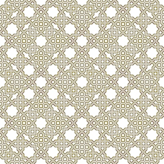 Seamless geometric ornament based on traditional islamic art.brown color lines.great design for fabric,textile,cover,wrapping paper,background.triple lines.