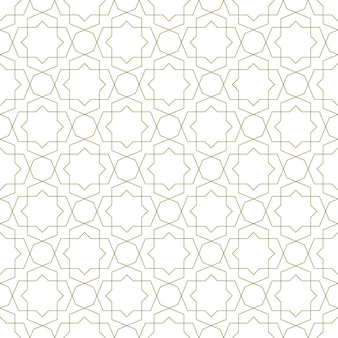 Seamless geometric ornament based on traditional islamic art.brown color lines.great design for fabric,textile,cover,wrapping paper,background.