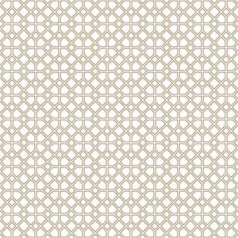 シームレスな幾何学的な装飾。茶色の色の線。