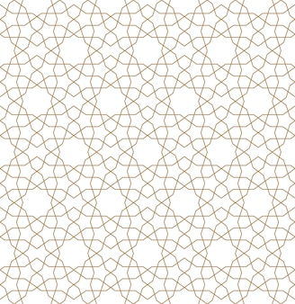 Seamless geometric ornament in brown color.