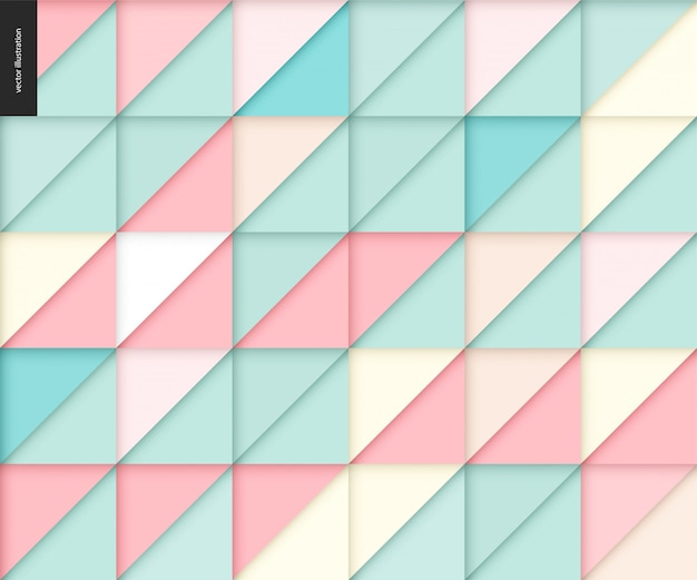 Seamless geometric papercut pattern