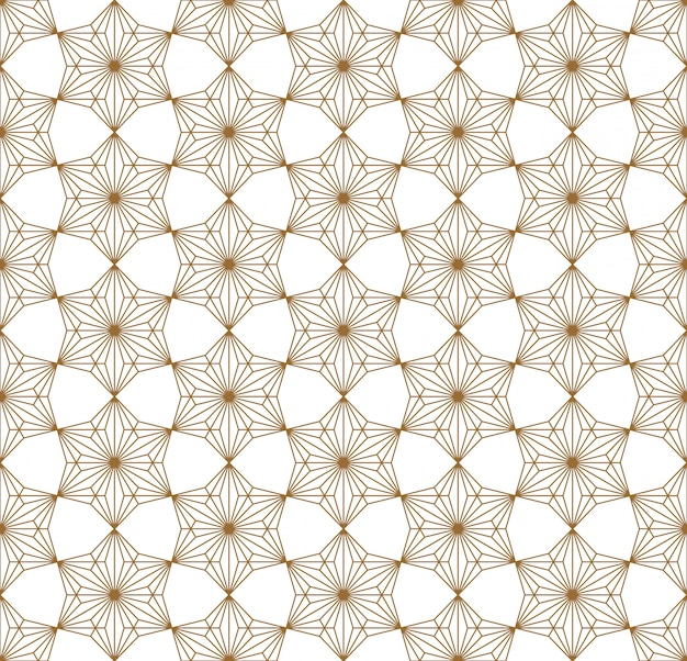 Seamless geometric pattern based on japanese ornament kumiko .