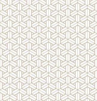 일본 장식 쿠미코를 기반으로 한 완벽 한 기하학적 패턴입니다.