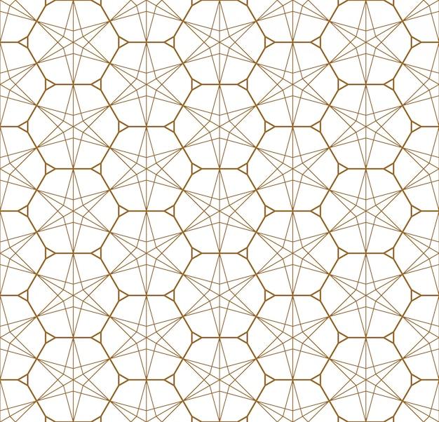 日本の飾り久美子に基づくシームレスな幾何学模様。
