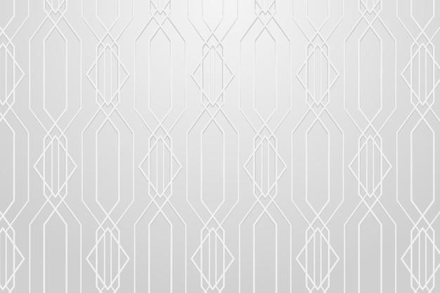 Motivo geometrico senza soluzione di continuità su uno sfondo grigio vettore