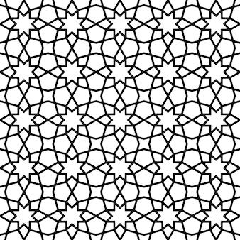 白と黒のシームレスな幾何学模様。