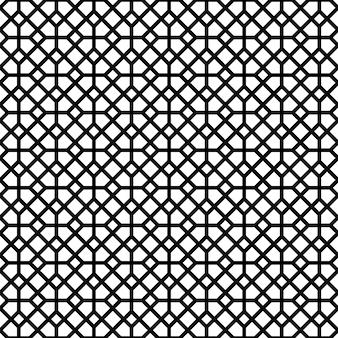 黒い色の線でシームレスな幾何学模様。