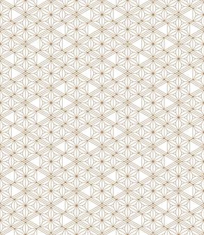 황금과 흰색의 완벽 한 기하학적 패턴입니다. 일본식 kumiko입니다.