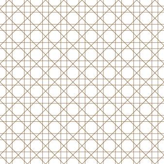 黄金と白のシームレスな幾何学模様。