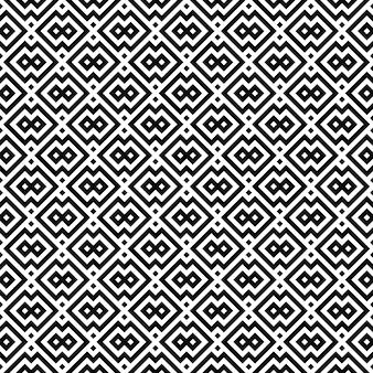 黒と白のシンプルな形状のシームレスな幾何学模様。