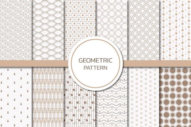 シームレスな幾何学模様セット