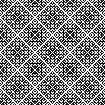 Seamless geometric pattern of simple shapes in black on white