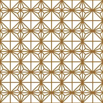 シームレスな幾何学模様。太い線。茶色と白。