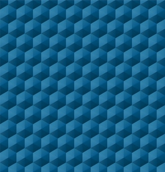 Seamless geometric pattern with blue geometric shapes