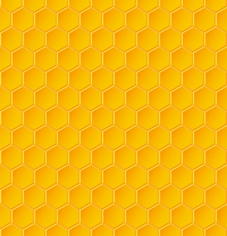 Seamless geometric pattern with honeycombs.  illustration