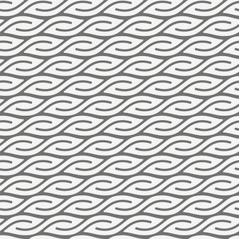 Seamless geometric pattern with leaf shapes