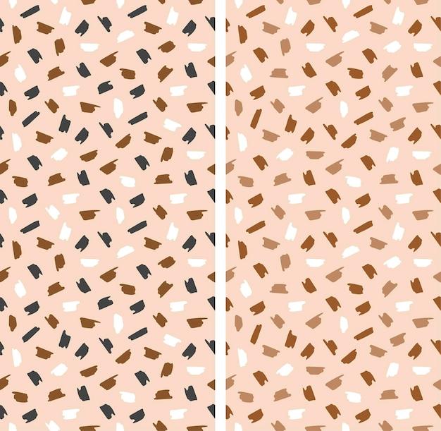 완벽 한 기하학적 패턴입니다. 추상적인 밝은 모양이 무작위로 배열됩니다. 벡터 일러스트 레이 션