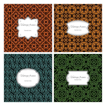 Seamless geometric patterns with frame set
