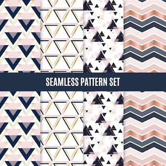 Seamless geometric scandinavian pattern set