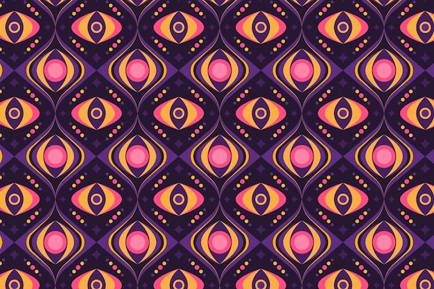 シームレスな幾何学的形状のグルーヴィーなパターンテクスチャ