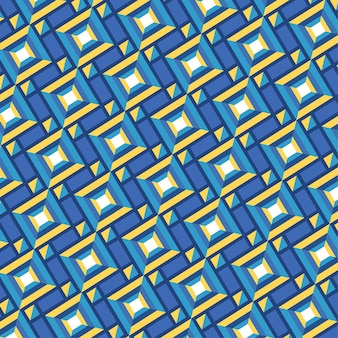 Seamless geometric shapes groovy pattern texture