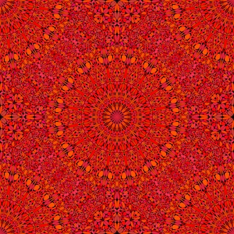 Seamless geometrical red mandala ornament pattern background