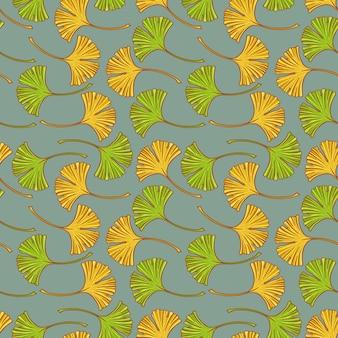Бесшовные листья гинкго.