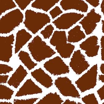 Seamless giraffe fur vector pattern.