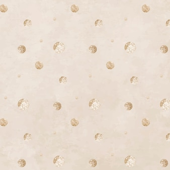 Seamless gold dotted pattern on a beige background vector