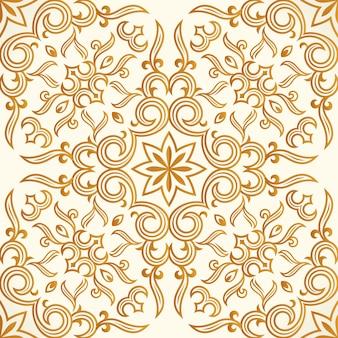 シームレスなゴールドパターンデザイン