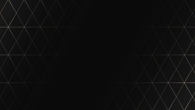 黒の背景にシームレスな金のひし形グリッドパターン