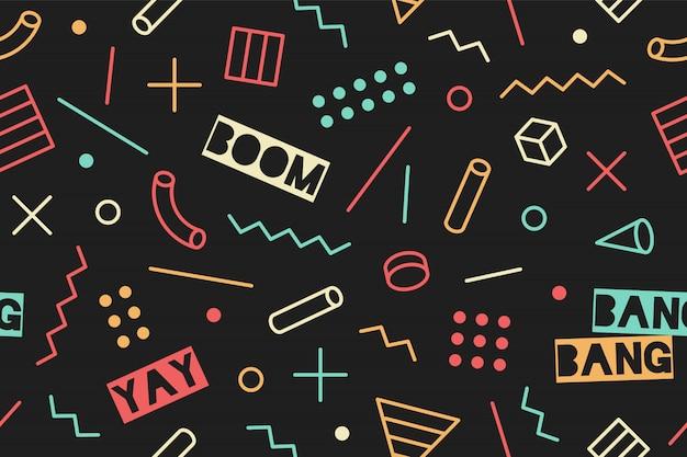 Seamless graphic memphis pattern