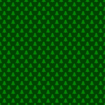 Seamless green simple geometrical xmas tree pattern background