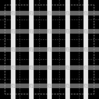 Бесшовные серый полосатый узор на белом фоне с серебряным квадратным блеском