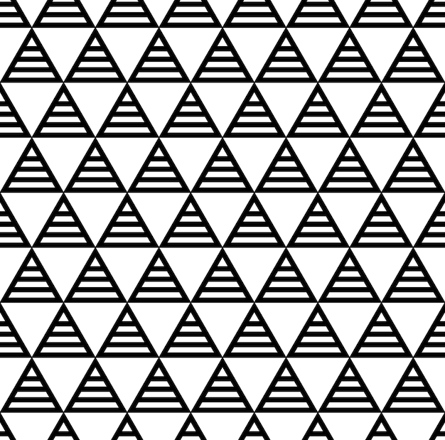 Seamless grid pattern with repeating geometric triangles.