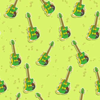 Seamless guitar pattern.