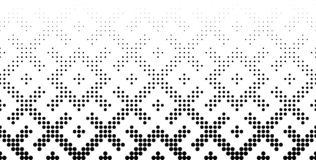 Seamless halftone  background. middle fade out.