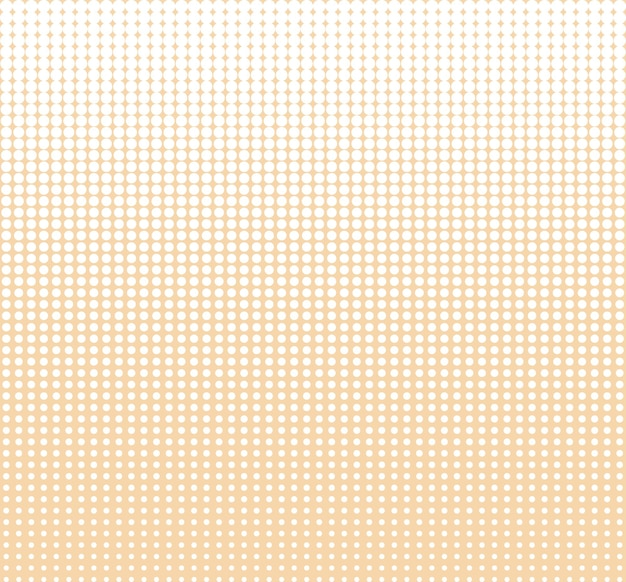 Seamless halftone circle dots abstract vector background or texture for design template