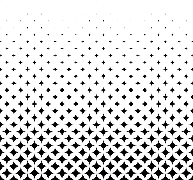 Seamless halftone vector background.filled with black rhombuses .middle fade out. 27 figures in height.