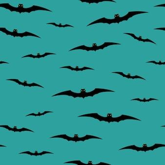 박쥐와 원활한 할로윈 배경입니다. 벡터 일러스트 레이 션