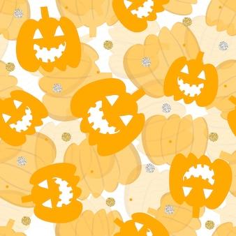 Seamless halloween element pattern background